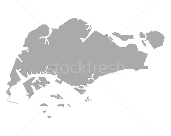 Mapa vetor isolado ilustração cinza cinza Foto stock © rbiedermann