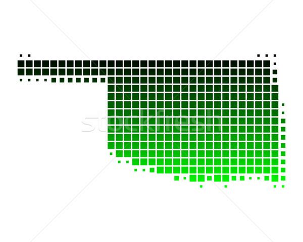 Mapa Oklahoma verde padrão américa praça Foto stock © rbiedermann
