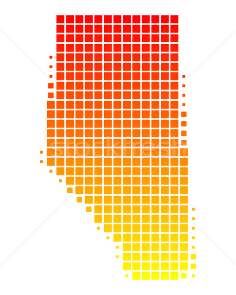 Map of Alberta Stock photo © rbiedermann