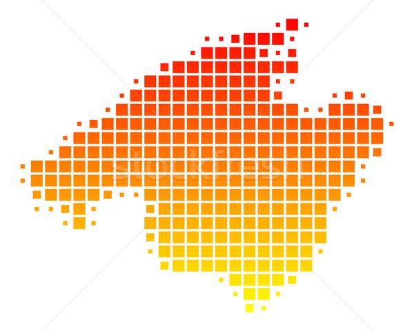 Kaart majorca patroon vierkante Spanje illustratie Stockfoto © rbiedermann