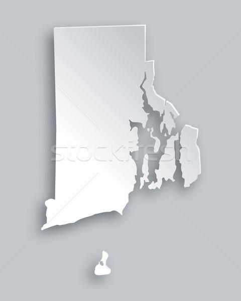 Harita Rhode Island kâğıt arka plan seyahat kart Stok fotoğraf © rbiedermann