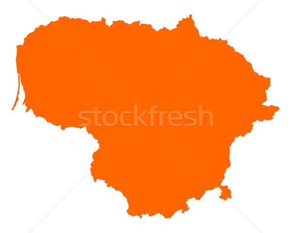 地図 リトアニア 旅行 ベクトル ストックフォト © rbiedermann