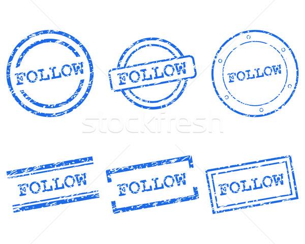 Follow stamps Stock photo © rbiedermann
