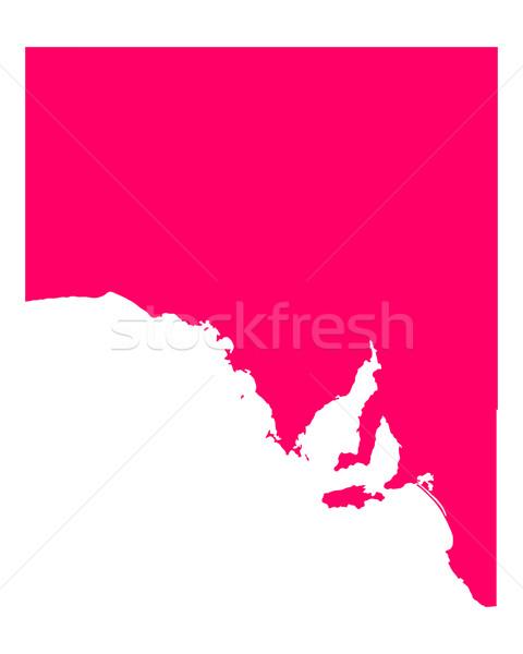 Mapa sul da austrália viajar roxo Austrália isolado Foto stock © rbiedermann