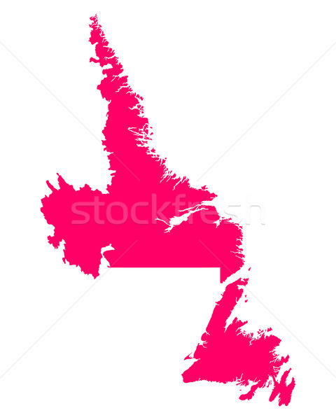 Map of Newfoundland and Labrador Stock photo © rbiedermann