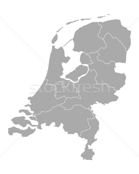 Kaart Nederland holland grens vector geïsoleerd Stockfoto © rbiedermann