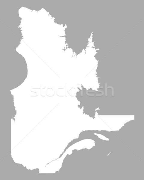 Harita Quebec arka plan beyaz hat Kanada Stok fotoğraf © rbiedermann