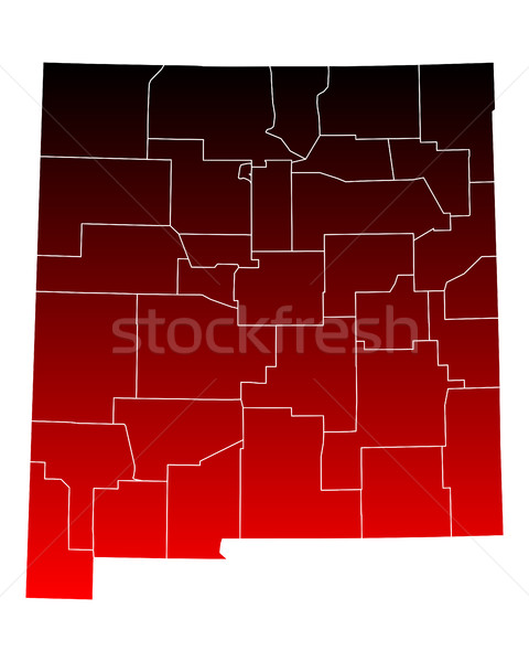 Harita New Mexico seyahat kırmızı ABD Meksika Stok fotoğraf © rbiedermann
