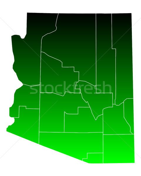 Térkép Arizona zöld utazás USA izolált Stock fotó © rbiedermann