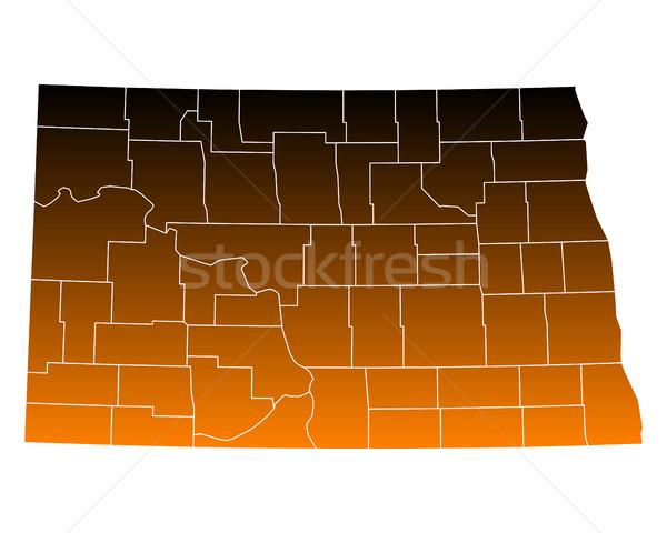 Kaart noorden usa vector geïsoleerd illustratie Stockfoto © rbiedermann