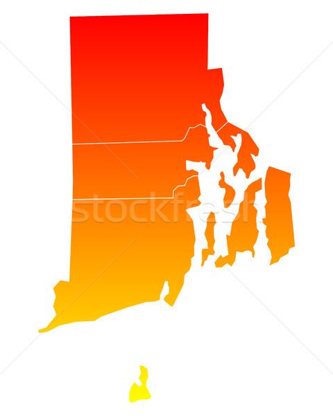 Mapa ilha eua vetor isolado ilustração Foto stock © rbiedermann