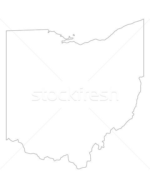 Harita Ohio arka plan hat ABD Stok fotoğraf © rbiedermann