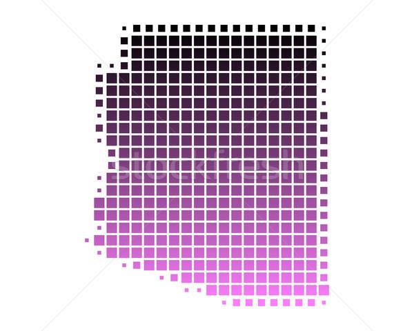 Stockfoto: Kaart · Arizona · patroon · roze · amerika · vierkante
