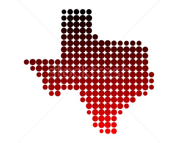 地図 テキサス州 パターン アメリカ サークル 米国 ストックフォト © rbiedermann