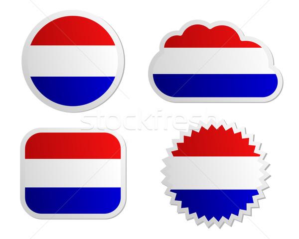 Netherlands flag labels Stock photo © rbiedermann