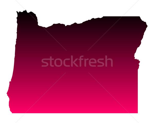 Térkép Oregon utazás rózsaszín Amerika lila Stock fotó © rbiedermann