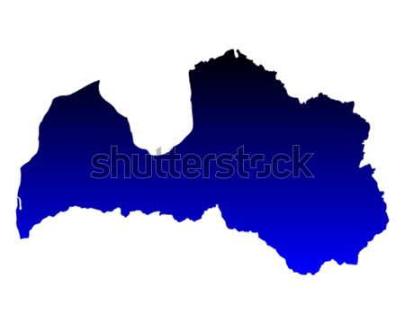 Mapa Letonia azul vector aislado Foto stock © rbiedermann