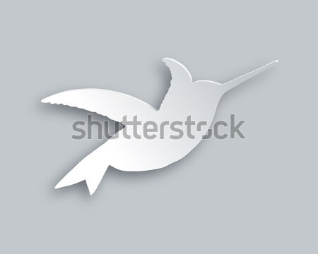Flying hummingbird Stock photo © rbiedermann