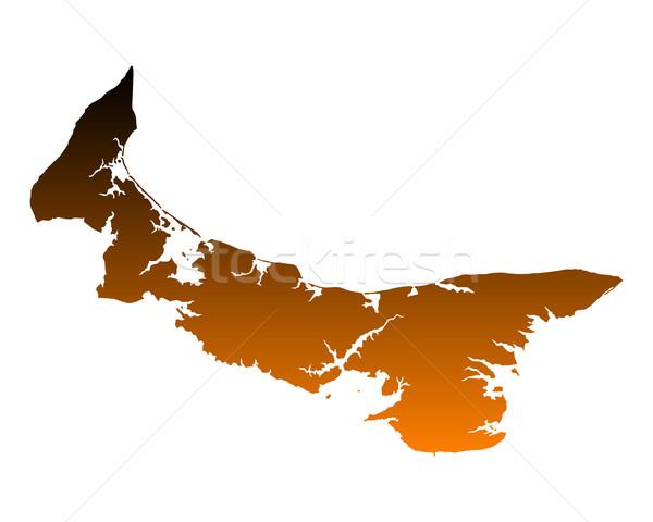 Foto stock: Mapa · isla · del · príncipe · eduardo · isla · vector · aislado · ilustración