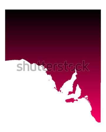 Mapa sul da austrália vermelho vetor Austrália isolado Foto stock © rbiedermann