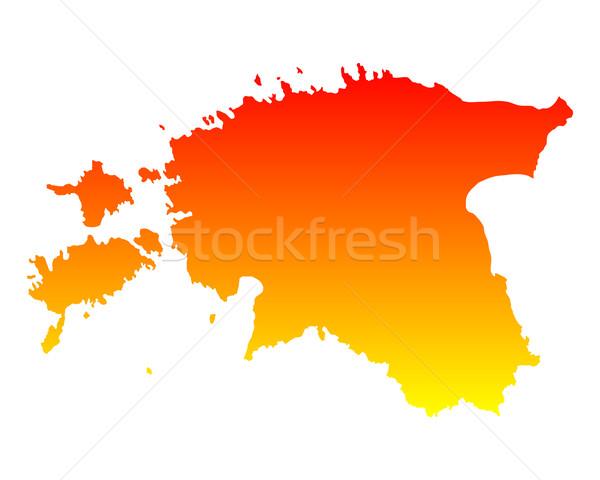 地図 エストニア 背景 オレンジ 行 ベクトル ストックフォト © rbiedermann