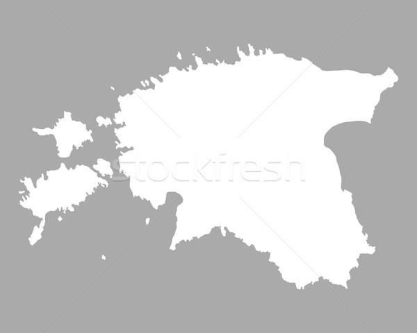 Kaart Estland achtergrond lijn Stockfoto © rbiedermann