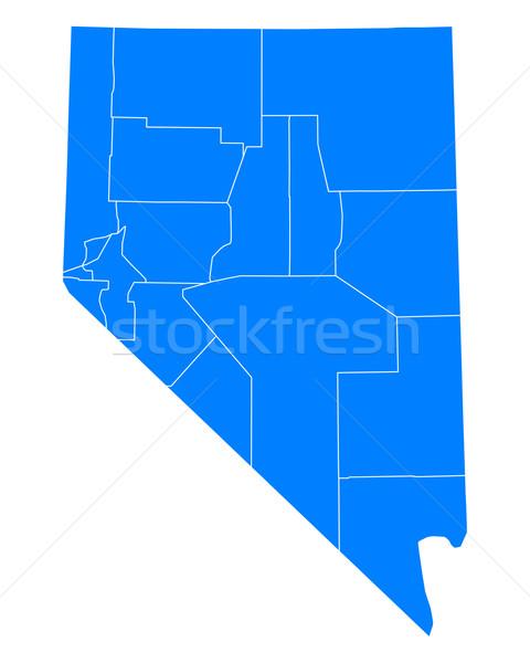 Harita Nevada arka plan mavi hat vektör Stok fotoğraf © rbiedermann