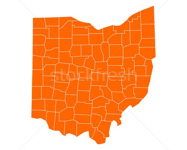 Kaart Ohio reizen USA geïsoleerd illustratie Stockfoto © rbiedermann