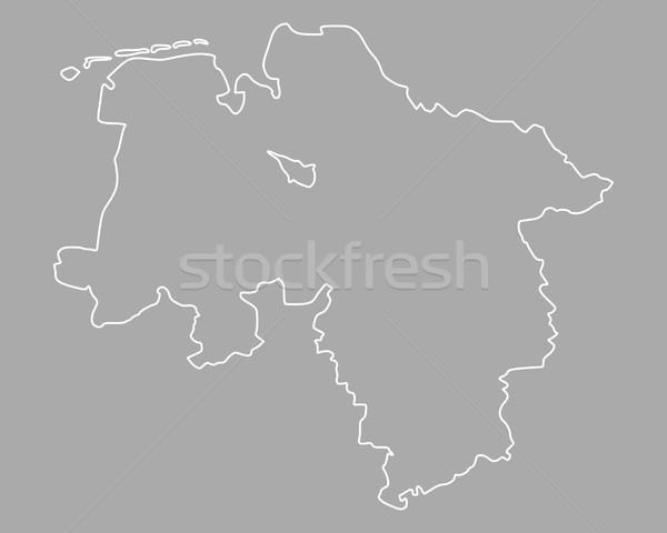 карта снизить вектора Германия изолированный серый Сток-фото © rbiedermann