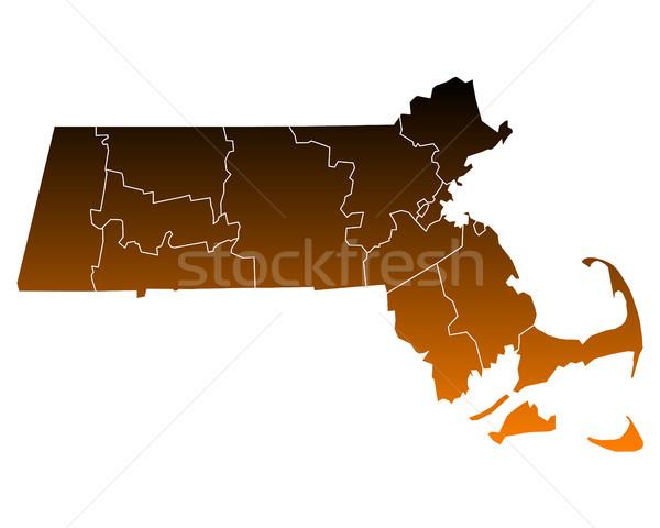 карта США вектора изолированный иллюстрация коричневый Сток-фото © rbiedermann