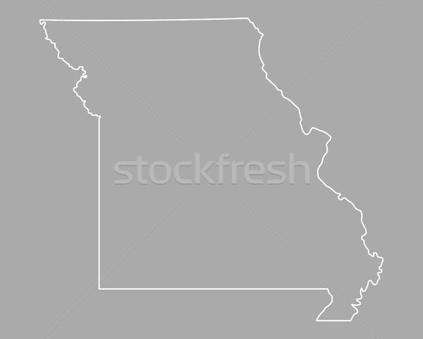 Carte Missouri USA vecteur isolé illustration Photo stock © rbiedermann