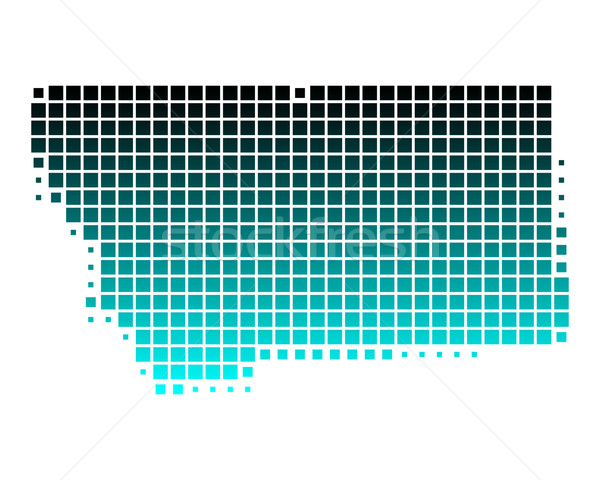 Mappa Montana verde blu pattern america Foto d'archivio © rbiedermann
