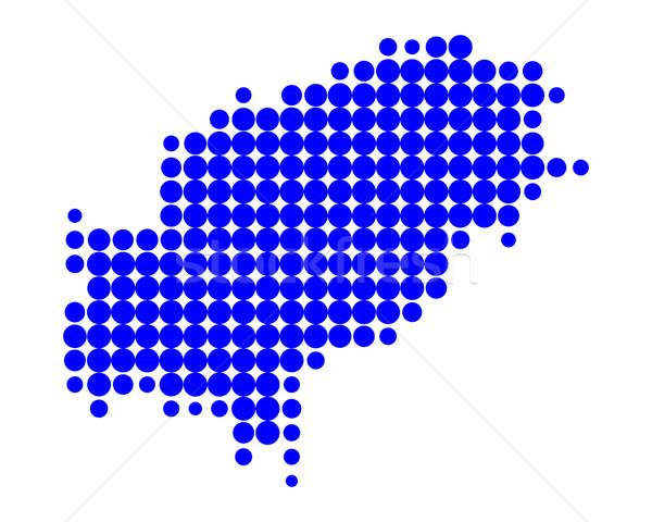 Сток-фото: карта · синий · острове · шаблон · круга · точки