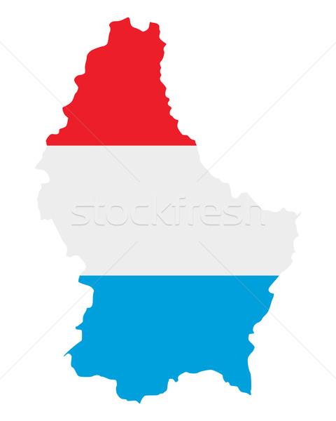 Kaart vlag Luxemburg reizen banner Stockfoto © rbiedermann
