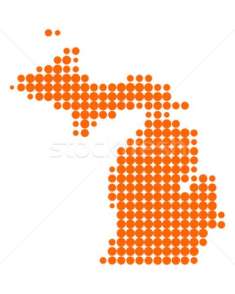 Map of Michigan vector illustration © Robert Biedermann