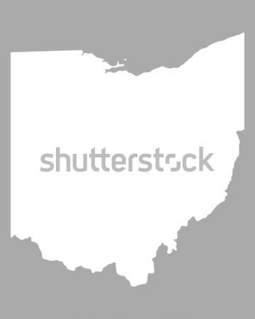 地図 オハイオ州 緑 青 旅行 アメリカ ストックフォト © rbiedermann