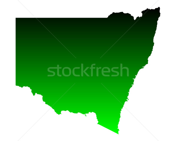 Map of New South Wales Stock photo © rbiedermann