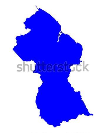 Kaart Guyana achtergrond lijn vector Stockfoto © rbiedermann
