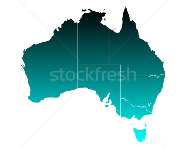 Map of Australia Stock photo © rbiedermann