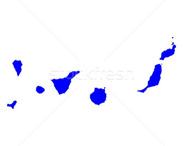 Mapa canárias azul ilha vetor Espanha Foto stock © rbiedermann