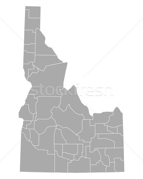 Kaart Idaho achtergrond lijn vector illustratie Stockfoto © rbiedermann
