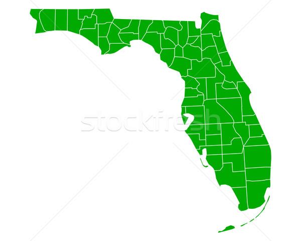 Térkép Florida háttér zöld vonal vektor Stock fotó © rbiedermann