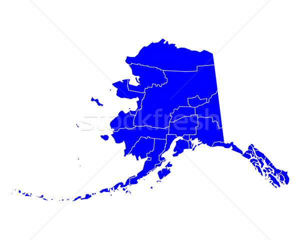 Mappa Alaska blu viaggio USA isolato Foto d'archivio © rbiedermann