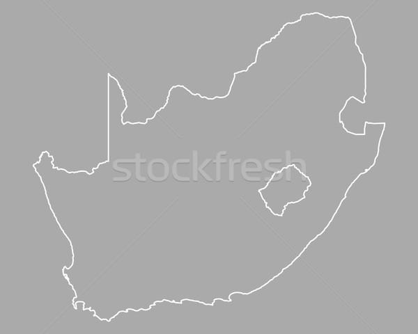 Kaart South Africa achtergrond afrika geïsoleerd illustratie Stockfoto © rbiedermann