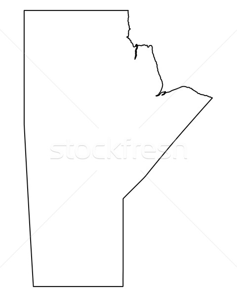 Map of Manitoba Stock photo © rbiedermann
