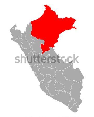 Mapa vermelho vetor isolado ilustração geografia Foto stock © rbiedermann