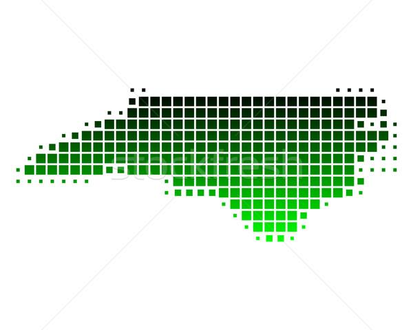 Térkép Észak-Karolina zöld minta Amerika tér Stock fotó © rbiedermann