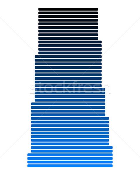 Mapa saskatchewan azul línea líneas punto Foto stock © rbiedermann
