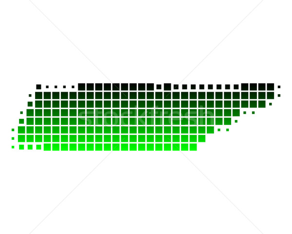 Carte Tennessee vert Voyage modèle carré Photo stock © rbiedermann