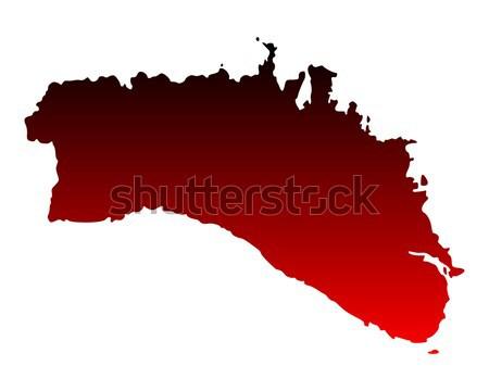 ストックフォト: 地図 · ドイツ · 赤 · パターン · サークル · ポイント